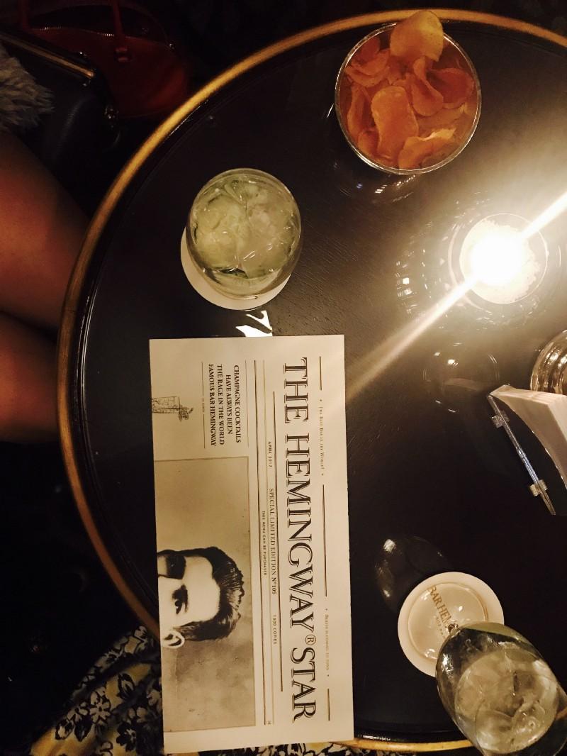 Hemingway Bar in the Ritz Hotel