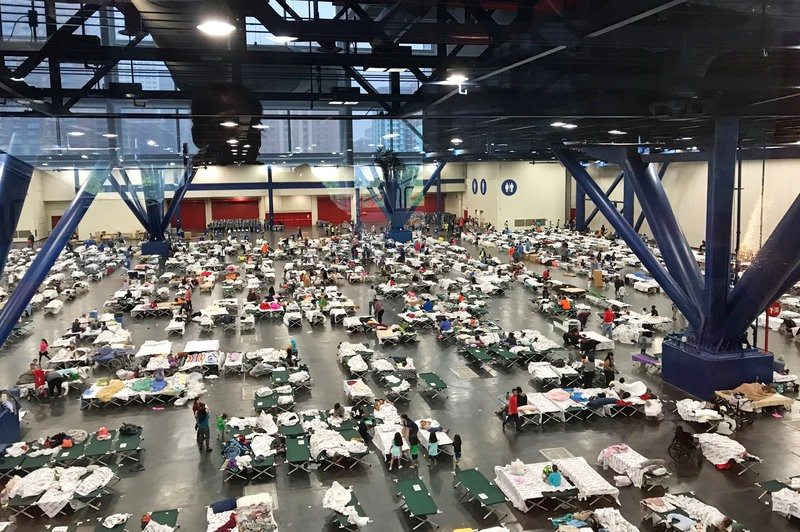Photo of shelter at George R. Brown Convention Center