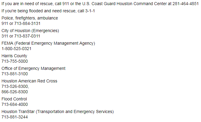 List of emergency services