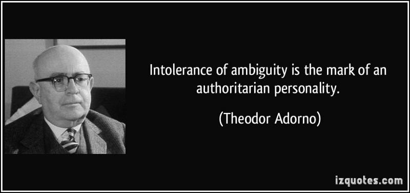 Screenshot of a Theodor Adorno quote