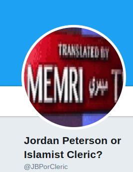 Screenshot of Twitter user