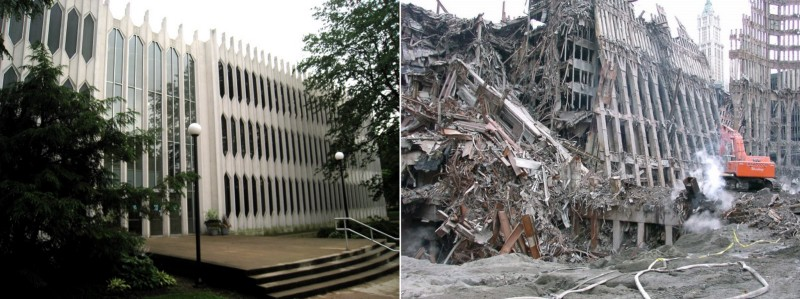 Photos of Oberlin Conservatory of Music and World Trade Center (after 9/11)