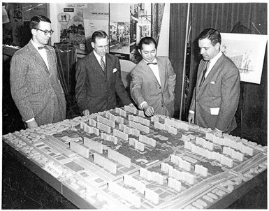 Photo of Minoru Yamasaki planning