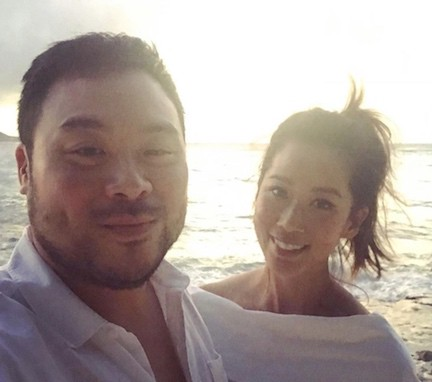 Photo of David Chang and his wife Grace Seo Chang