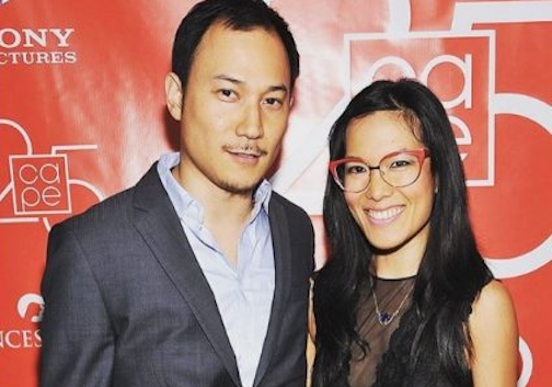 Photo of Ali Wong and her husband, Justin Hakuta