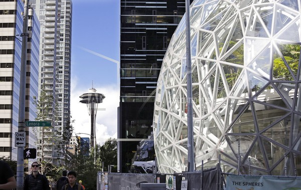 Photo of Amazon offices in Seattle, WA