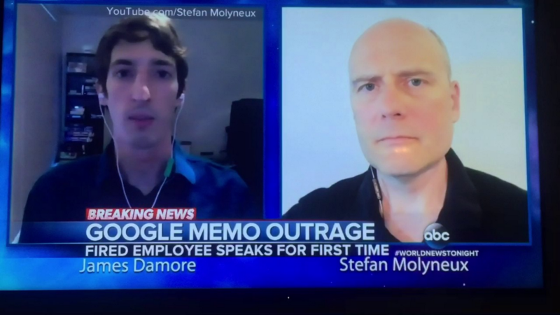 Screenshot of James Damore and Stefan Molyneux