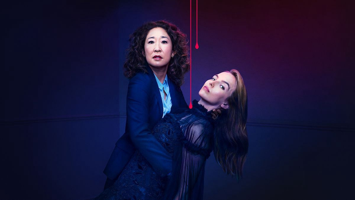 """Image of Sandra Oh and Jodie Comer in """"Killing Eve"""""""