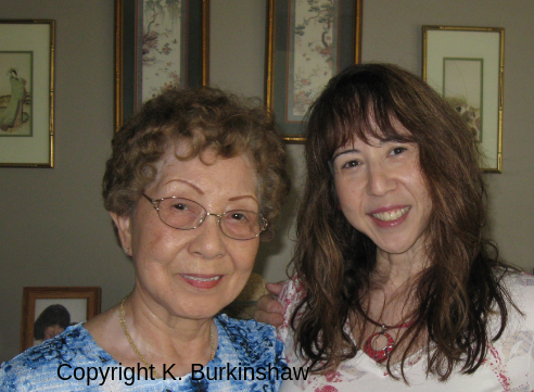 Photo of Kathleen Burkinshaw and her mother