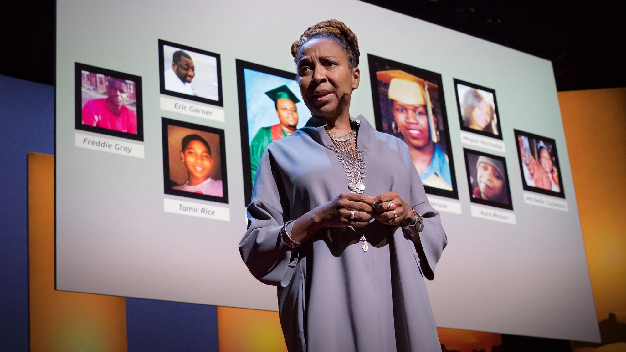 Crenshaw on stage at her TED Talk