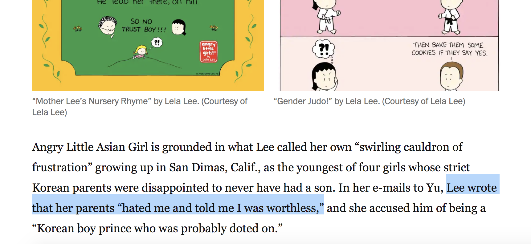 Screenshot of The Lela Lee vs Phil Yu debacle from Washington Post
