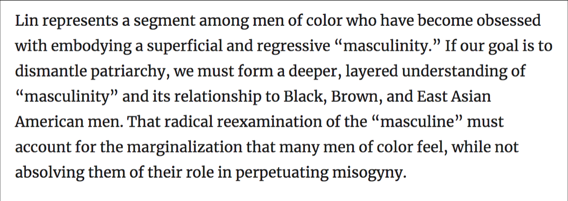 "Screenshot of ""Men of Color and Masculinity"" from Reappropriate"