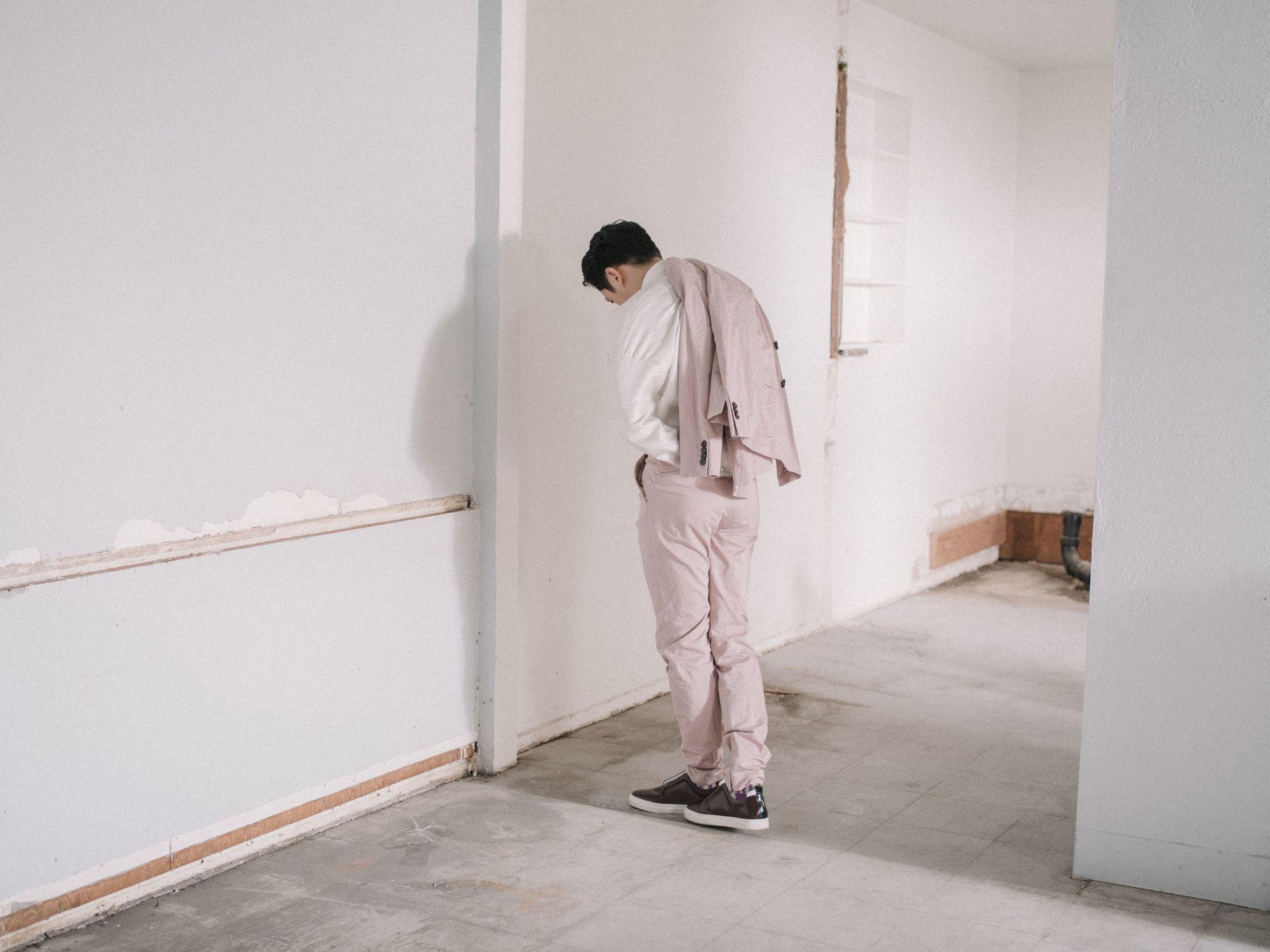 Photo of Steven Yeun from FLAUNT Magazine, shot by Shane Mccauley