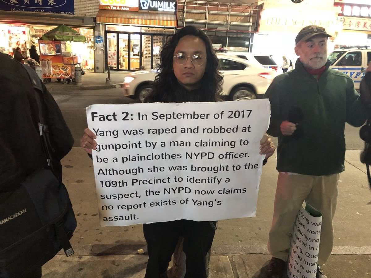 March for Song Yang in Flushing Queens, March 5, 2018. Photo Courtesy of Emma Whitford on Twitter.