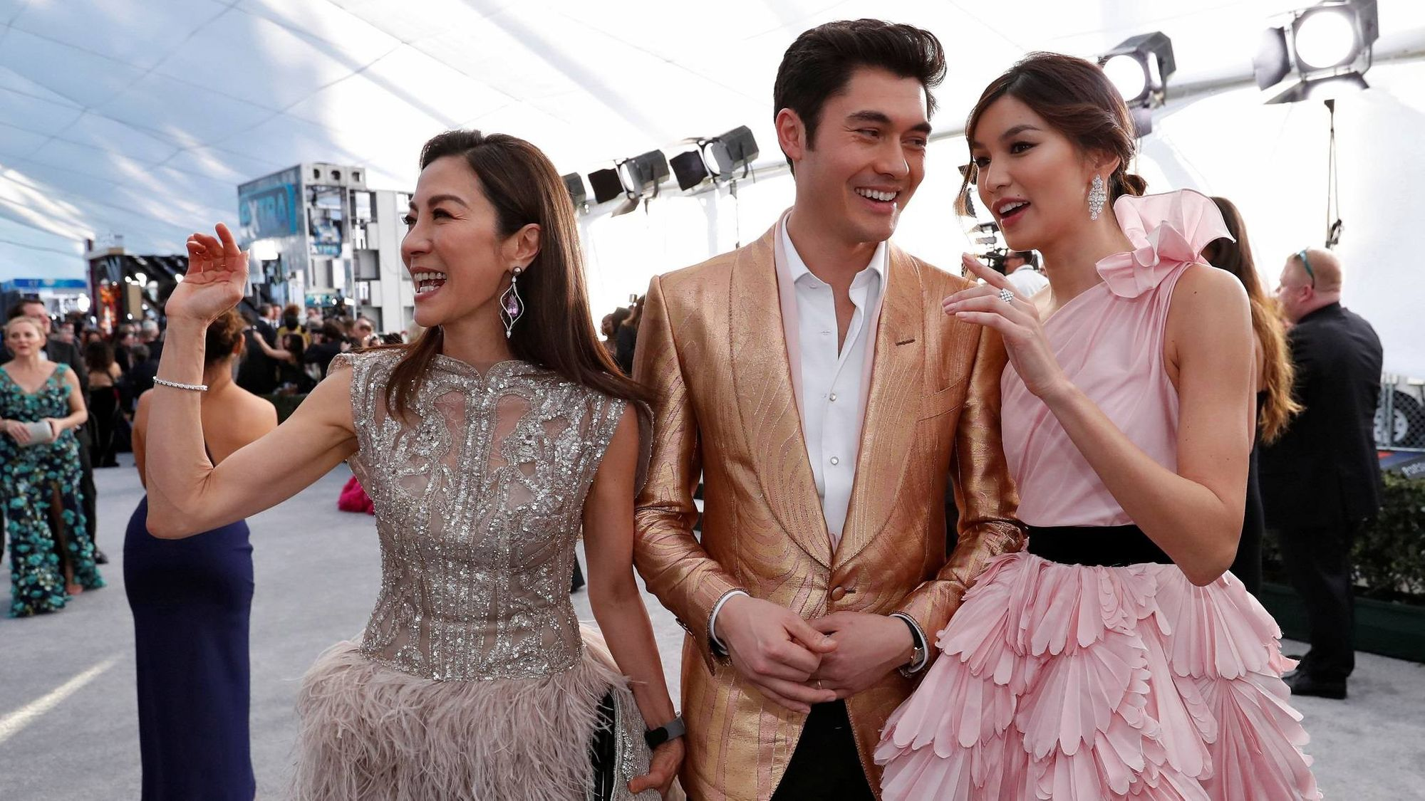Michelle Yeoh, Henry Golding, and Gemma Chan (Crazy Rich Asians)