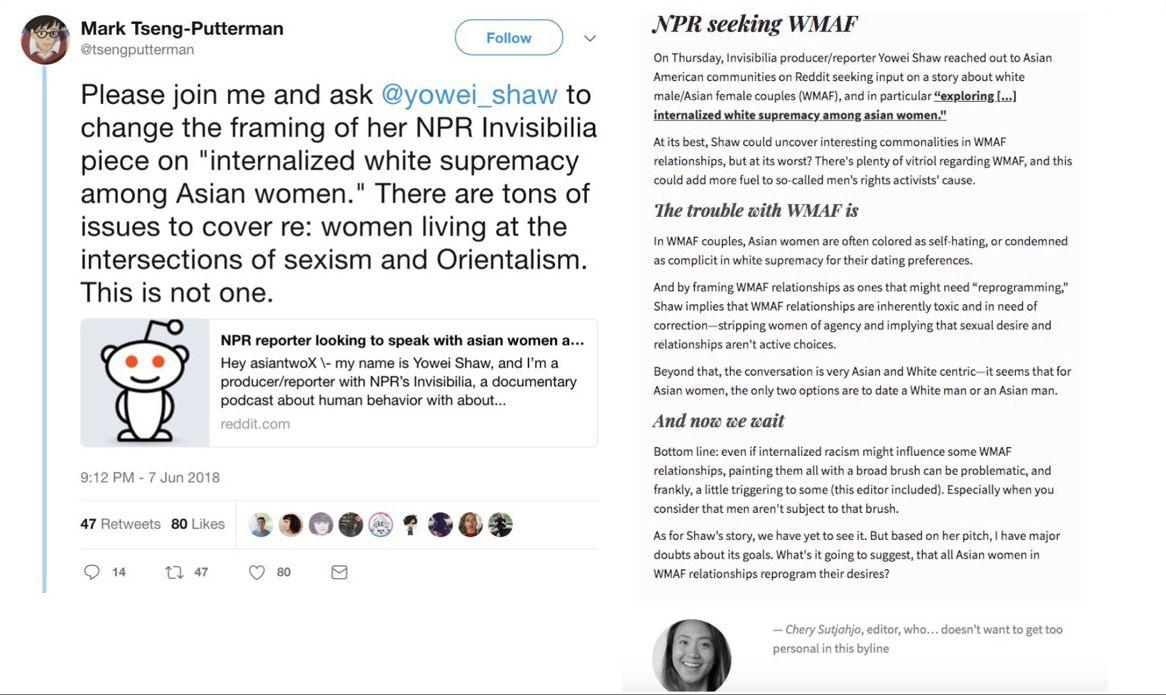Screenshots of tweet and newsletter