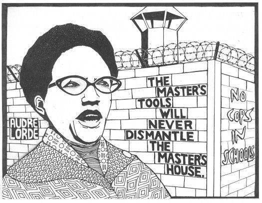 Drawing of Audre Lorde and her well-known quote