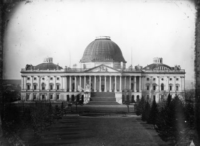 Old photo of United States Capitol