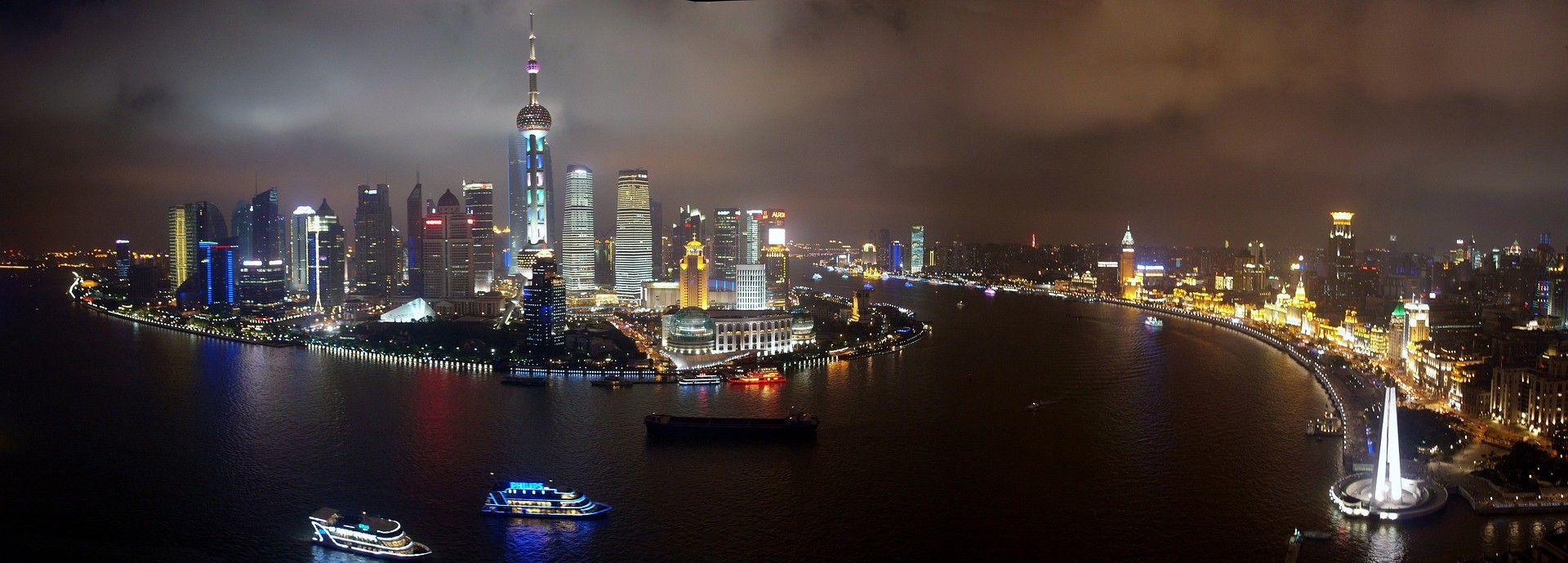 Panoramic photo of Shanghai